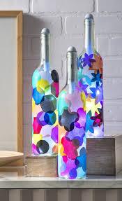 Making Wine Bottle Lights Wine Bottle Crafts Light My Bottles Mod Podge Rocks