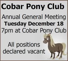 Cobar Pony Club Agm Meetings Cobar Shire Council