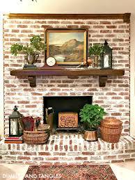 brick fireplace makeover mortar wash