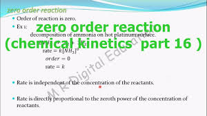 zero order reaction and its examples chemical kinetics part 16 for cbse class 12 and jee iit you