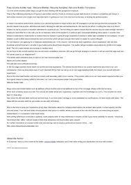High School Resume Builder Amazing Fake Resume Generator Builder Examples High School Templates Free