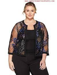 kasper womens plus size flyaway printed lace jacket iris multi