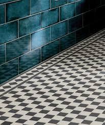 victorian black white border tile