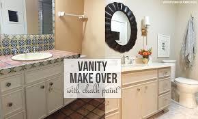 chalk paint bathroom vanity makeover
