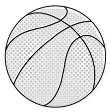バスケットボール白黒 無料イラストサイトイラぽん