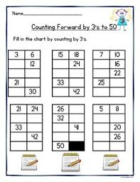 Count By 50 Chart Counting By 1s 2s 3s 4s 5s And 10s To 50 And 100 Worksheets