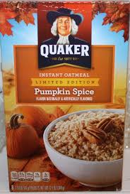 quaker pumpkin e instant oatmeal 4 points