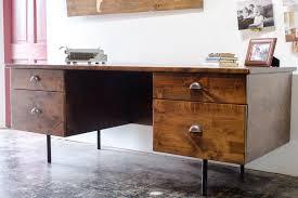 industrial style office desk modern industrial desk. Especial Home Office In Industrial Style Mid Century Desk Desks Modern