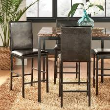 darcy metal upholstered counter height dining chairs set of 4 by inspire q bold