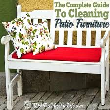 how to clean patio cushions furniture mildew off
