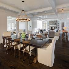 cottage dining room tables. Farm House Table Dining Room Beach With Beam Ceiling Chandelier Cottage. Image By: Colby Construction Cottage Tables O