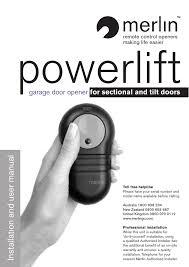 powerlift model 2562 genie retail line garage door openers merlin powerlift user manual manualzz
