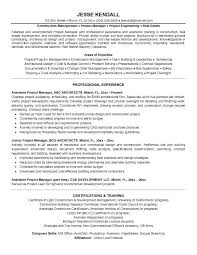 Project Management Resume Examples And Samples Resume Objective