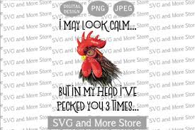 1 Pecked Rooster Designs Graphics