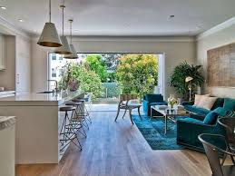 The open floor plan continues right out to the patio. #kitchen #living room