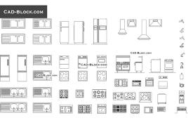 kitchen equipment cad blocks autocad file