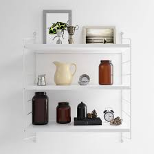 3 tier display wall shelf white white