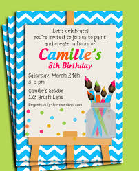 painting art party birthday great free art party invitations