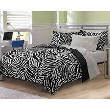 my room zebra complete bed in a bag bedding set black white com