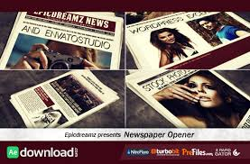Newspaper Template After Effects Free Videohive Newspaper Opener Free Download Free After Effects