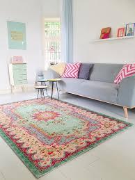 Amazonde Pastell Vintage Teppich Im Angesagten Shabby Chic Look