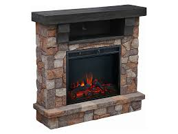 kinkaid electric fireplace media cabinet in stone assm 011 2444