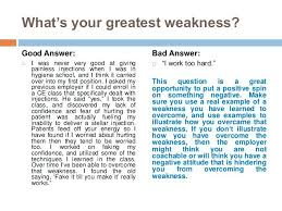 Job Interview Weaknesses Prepare For The Name A Weakness Awesome
