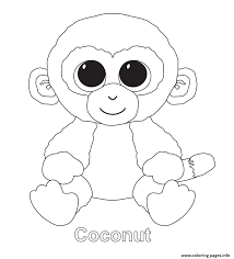 Print Coconut Beanie Boo Coloring Pages For Baby Boomme