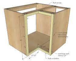 Diy Kitchen Cabinet Plans Cool Ana White 48 Corner Base Easy Reach Kitchen Cabinet Basic Model