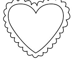 Printable Heart Shapes Printab Shapes To Cut Out Fish