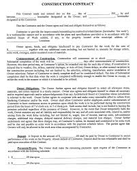 construction company contract template sample construction contract