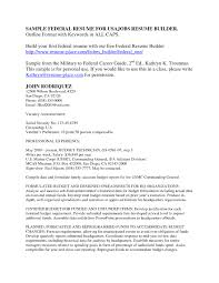 Resume Cover Letter Federal Resume Template Resume Template For