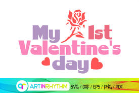 Free svg files for cricut & silhouette. 3 My 1st Valentine S Day Designs Graphics