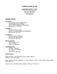 Curriculum Vitae For Doctors Sample Meltemplates
