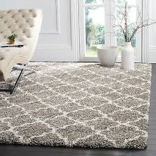 rug quatrefoil gray ivory plush area rugs 5x7 deep pile modern room decor
