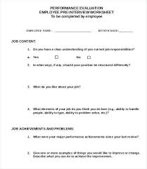 Employee Evaluation Checklist Template Employee Evaluation Checklist Template Free Forms Sample