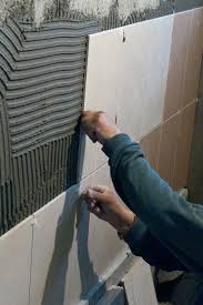 how to install bath tile installing wall tile spacer replacing bathtub tile grout