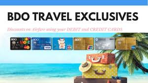 Mar 09, 2021 · credit card payments via gcash. Bdo Travel Exclusives At The Sm Megamall Mega Fashion Hall 1pisofare Promos 2021 To 2022