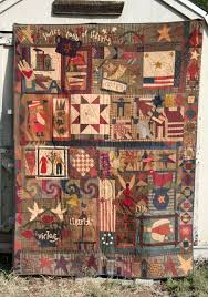 229 best primitive quilts images on Pinterest | Basket, Bags and ... & Well sucker for patriotic, primitive, red, white and blue that I am, when I  found out about the Sweet Land of Liberty Block of the Month by . Adamdwight.com