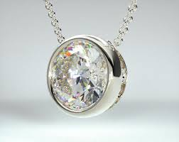 fine jewelry design your own pendants 14k white gold bezel diamond pendant mounting item 55845