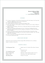 Software Testing Resume Samples 2 Years Experience Tester Resume