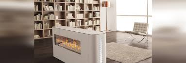 contemporary double sided fireplace gas closed hearth milano 80 130