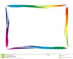 Colorful Border Stock Vector Illustration Of Rainbow 11062794