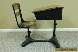antique vintage student child s adjule school desk chair back