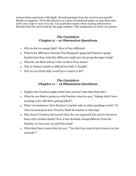 The Outsiders Book Report Essay Essay Question The Outsiders Coursework Sample 1162 Words