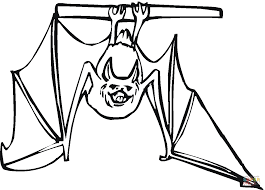 Small Picture Bat hanging upside down coloring page Free Printable Coloring Pages
