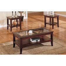glass wood coffee table