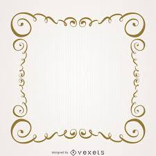 vintage gold swirls frame
