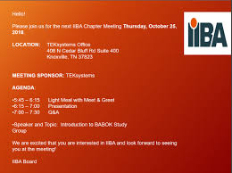 Meet And Greet Meeting Agenda Chapter Meeting Benefits Of Certification Iiba