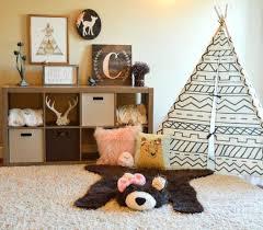 baby bear rug girl skin faux woodland nursery